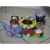 Création d'un pot à crayons pour bureau ; matériel de recyclage LUDOPLUME